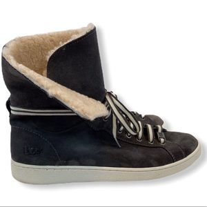 UGG STARLYN CHARCOAL SNEAKER HIGH TOP BOOTS